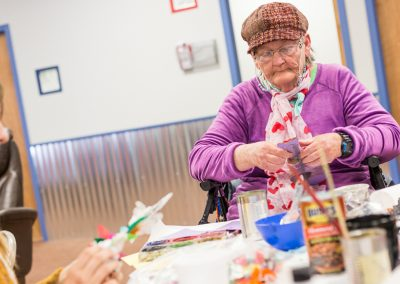 Collective Memory Workshops: a collaboration between the Harwood Art Center and Heading Home.