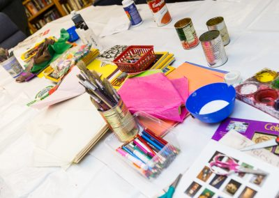 Collective Memory workshop with Harwood Art Center at the AOC men's emergency shelter
