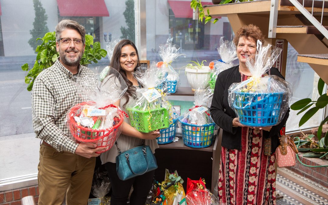 We are so grateful to the wonderful folks at New Mexico Gas Company and their call center for putting together Welcome Home Baskets for our housed clients.