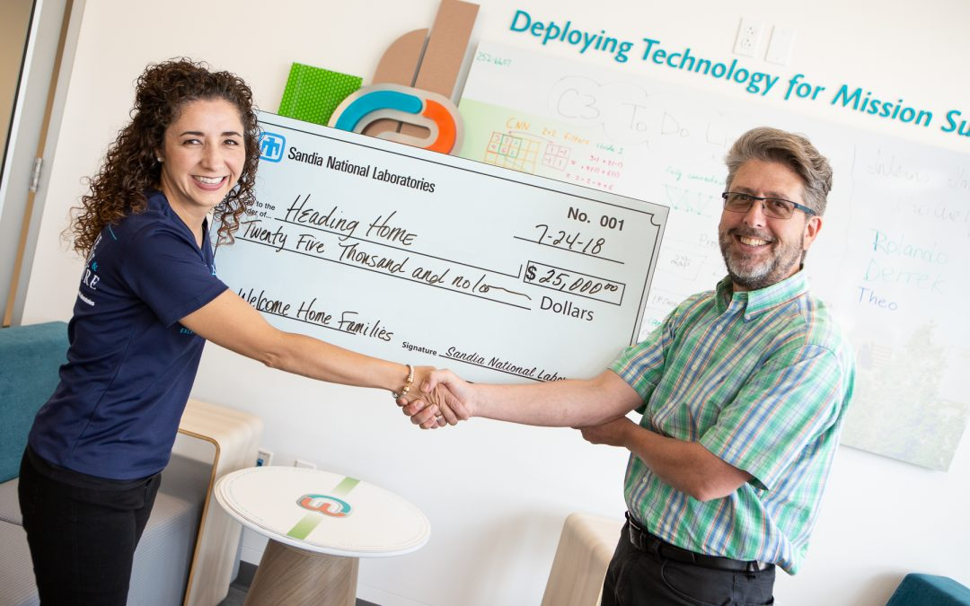 Sandia National Labs Gives Heading Home $25,000