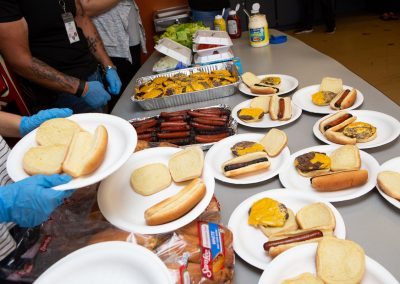 Labor Day BBQ at Heading Home's AOC emergency shelter