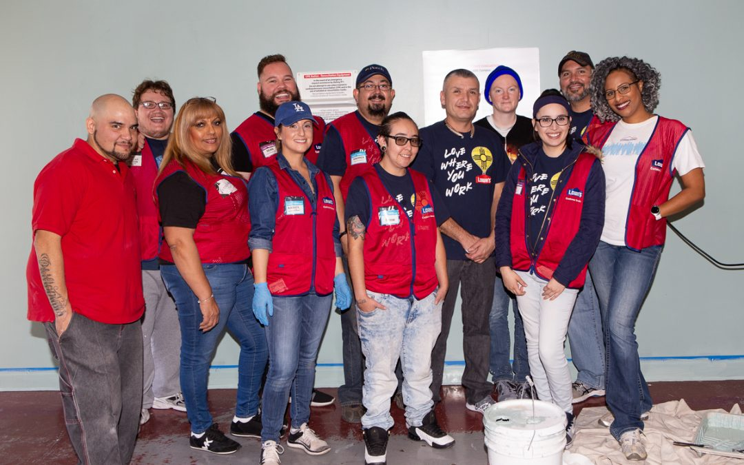 The Albuquerque Opportunity Center (AOC) campus recently received some much needed upgrades by Lowe's Home Improvement. Over 50 Lowe's employees donated over 200 volunteer hours in four days to improve and beautify our campus!