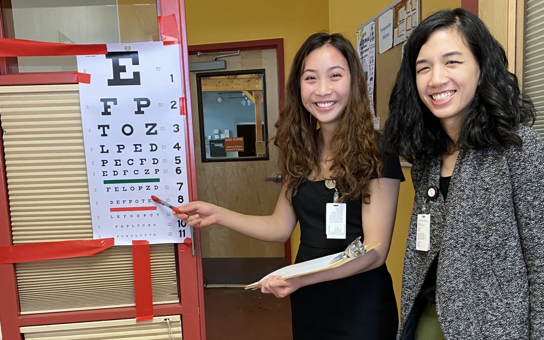 AOC Guests Get Eye Exams