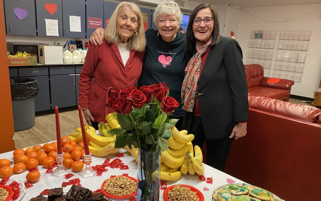 Volunteers Organize Valentine's Day Party at AOC