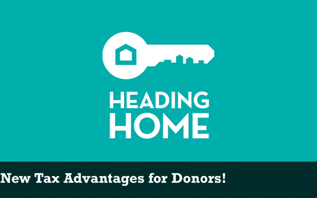 New Tax Advantages for Donors