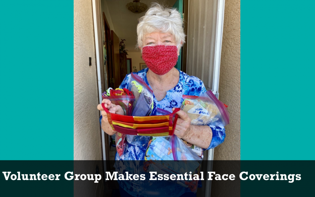 Volunteer Group Makes Essential Face Coverings
